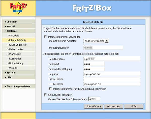 internet telefonie voip mit fritz box fon 5050 7050 einrichten anleitung portunity wiki. Black Bedroom Furniture Sets. Home Design Ideas