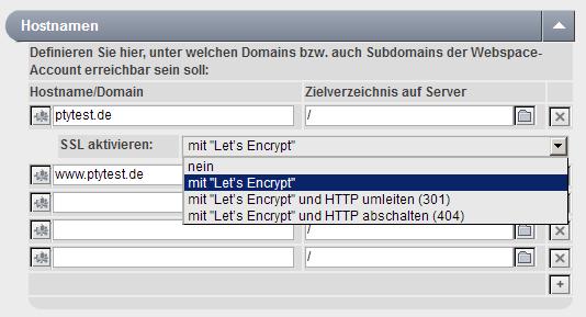 HTTPS auf Webspace einrichten mit Let\'s Encrypt – Portunity Wiki