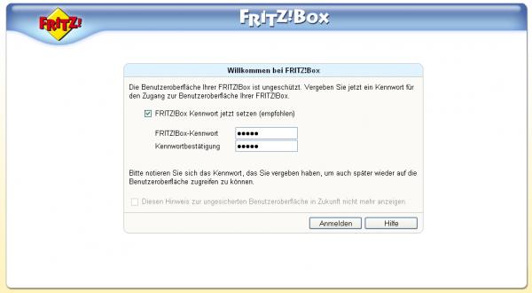 www fritz box de login